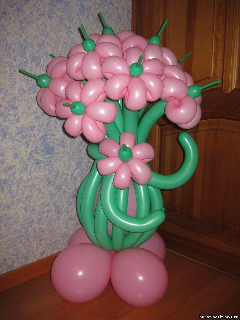 Сделать своими руками букет из воздушных шаров